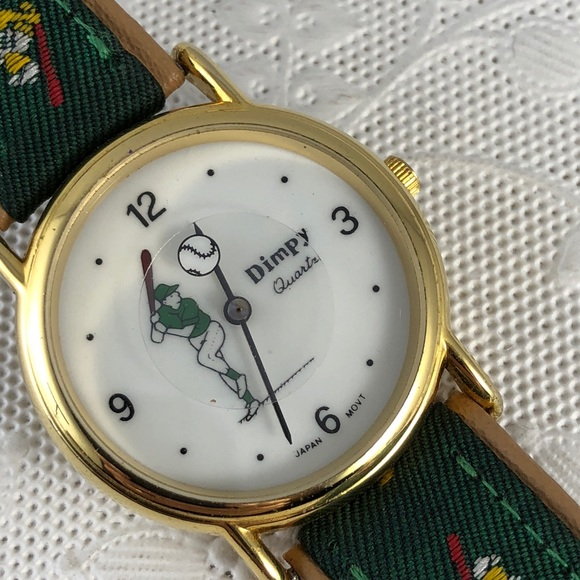 Dimpy Other - Vintage Baseball Watch Rotating Baseball by Dimpy